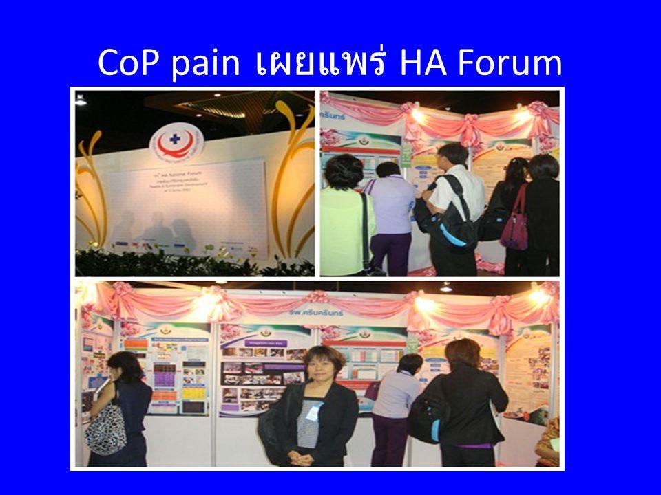 CoP pain เผยแพร่ HA Forum