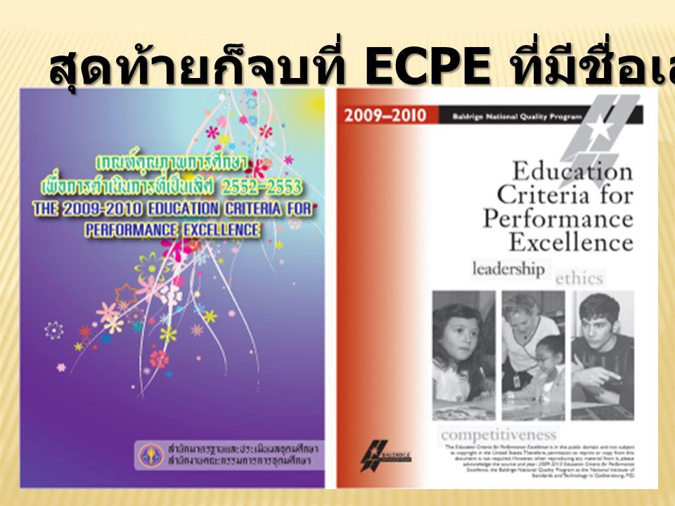 สุดท้ายก็จบที่ ECPE ที่มีชื่อเล่นว่า EdPEX