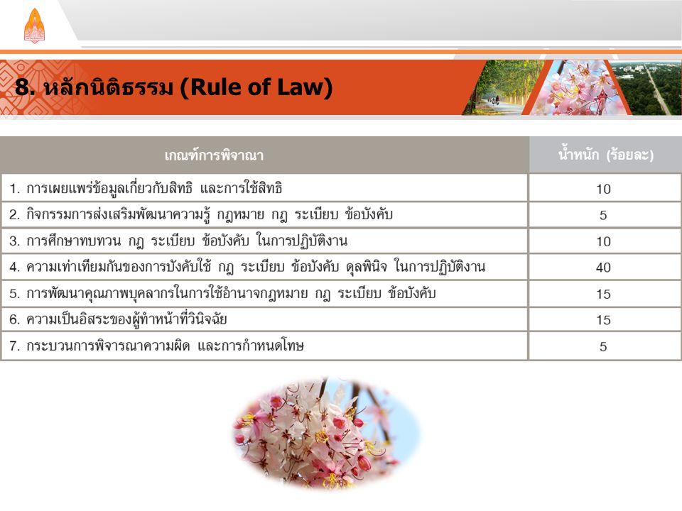 8. หลักนิติธรรม (Rule of Law)
