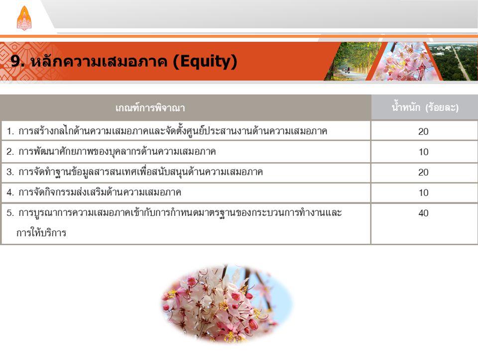 9. หลักความเสมอภาค (Equity)