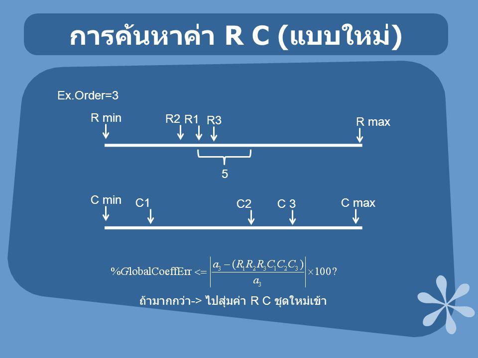 การค้นหาค่า R C (แบบใหม่)