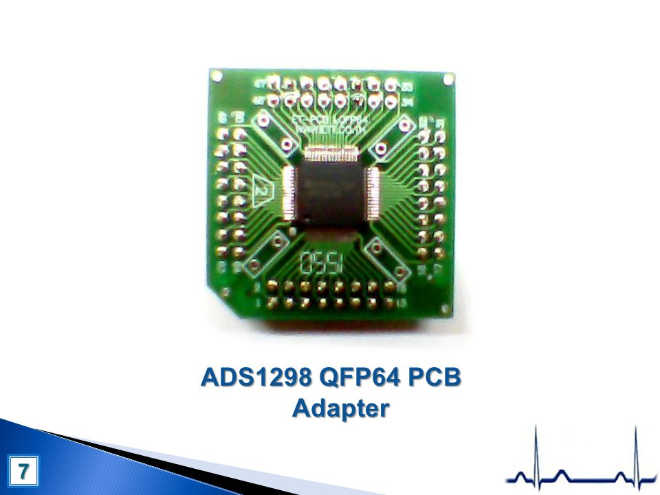 ADS1298 QFP64 PCB Adapter 7