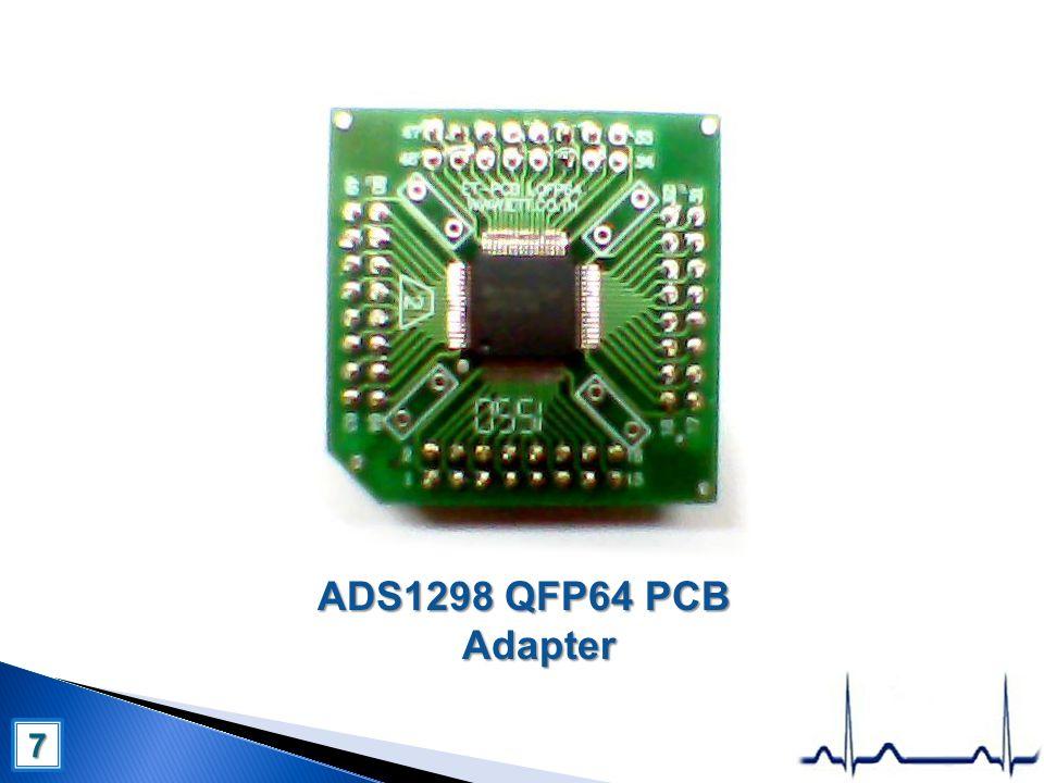 ADS1298 QFP64 PCB Adapter 7