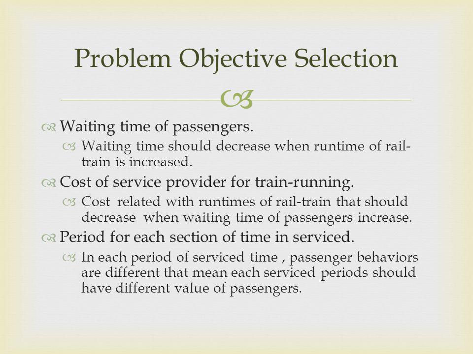 Problem Objective Selection