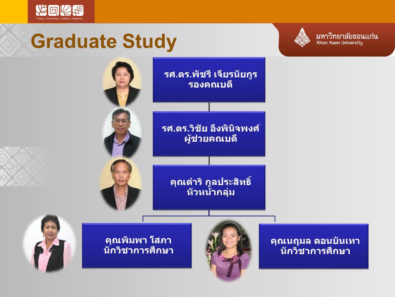 Graduate Study รศ.ดร.พัชรี เจียรนัยกูร รองคณบดี