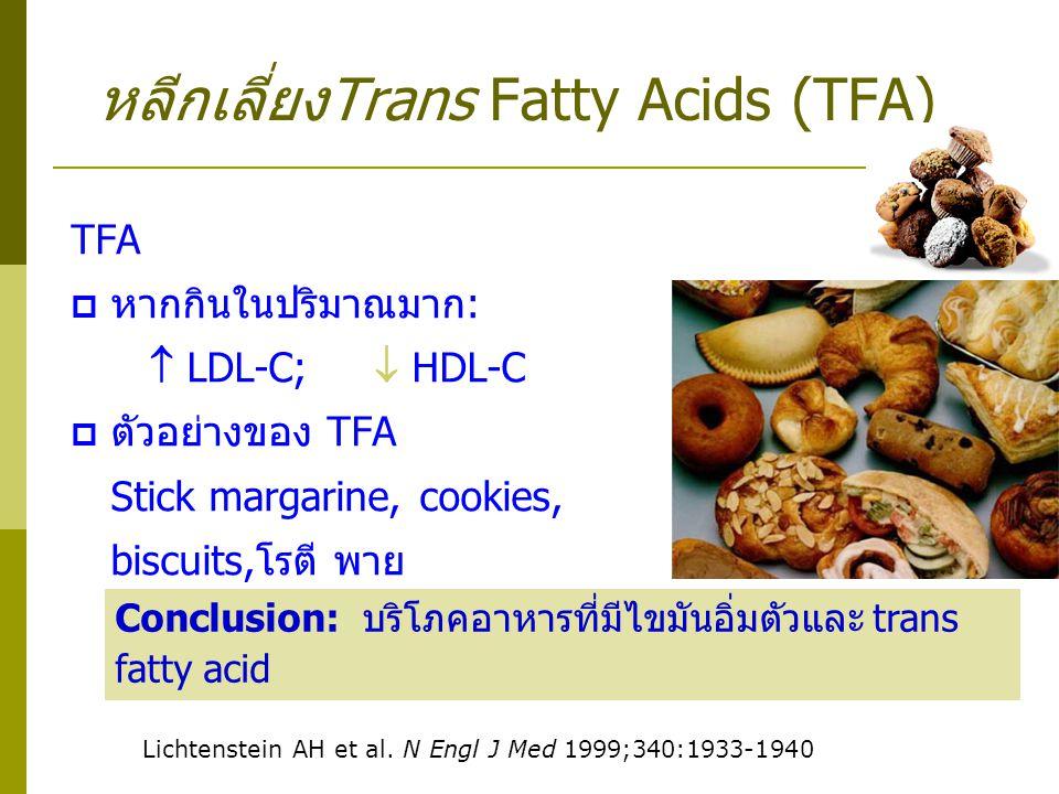 หลีกเลี่ยงTrans Fatty Acids (TFA)