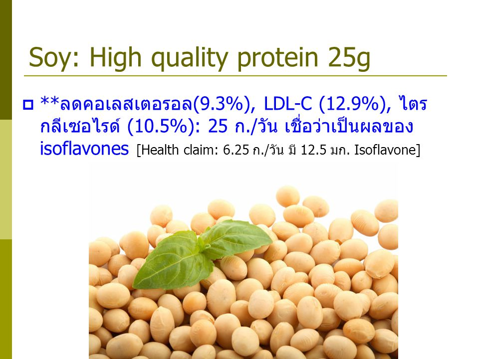 Soy: High quality protein 25g