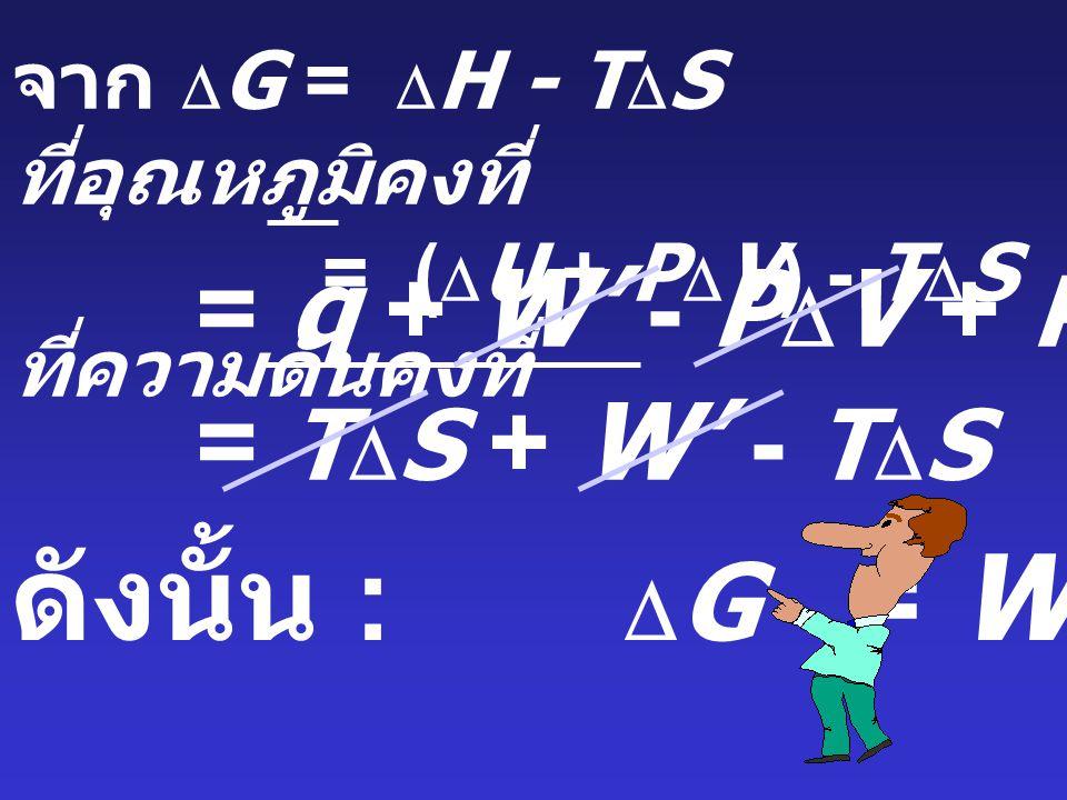 ดังนั้น : DG = W' = q + W' - PDV + PDV - TDS = TDS + W' - TDS