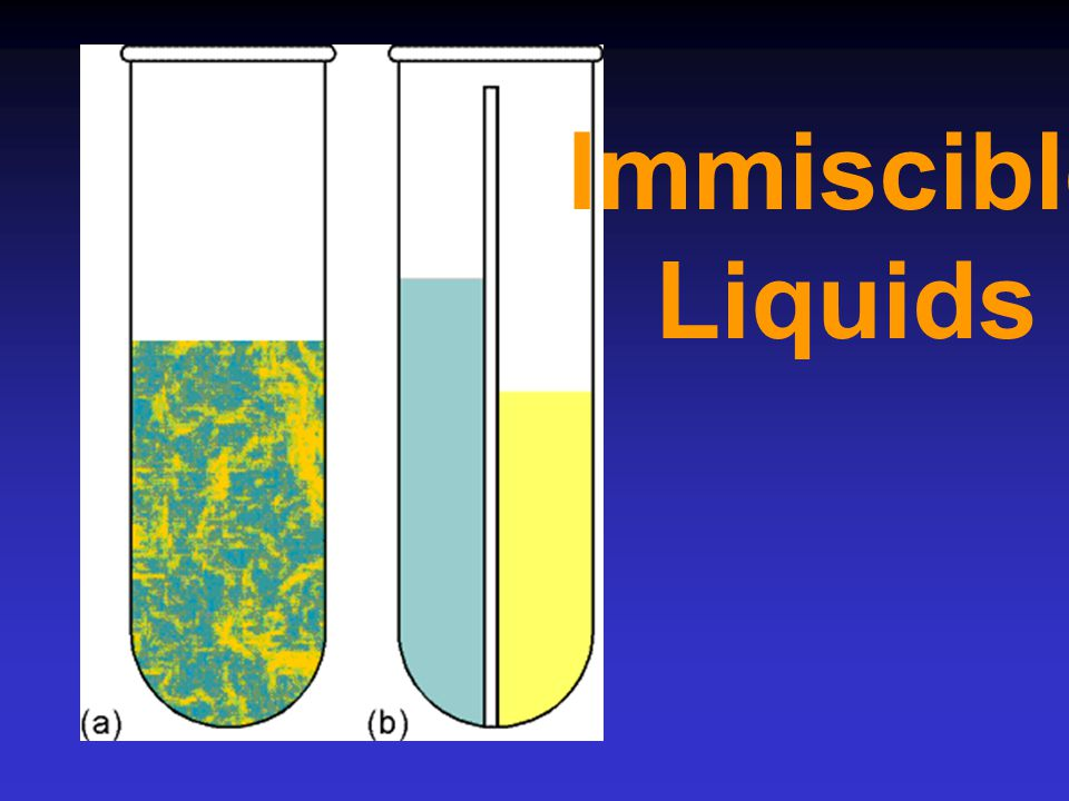 Immiscible Liquids