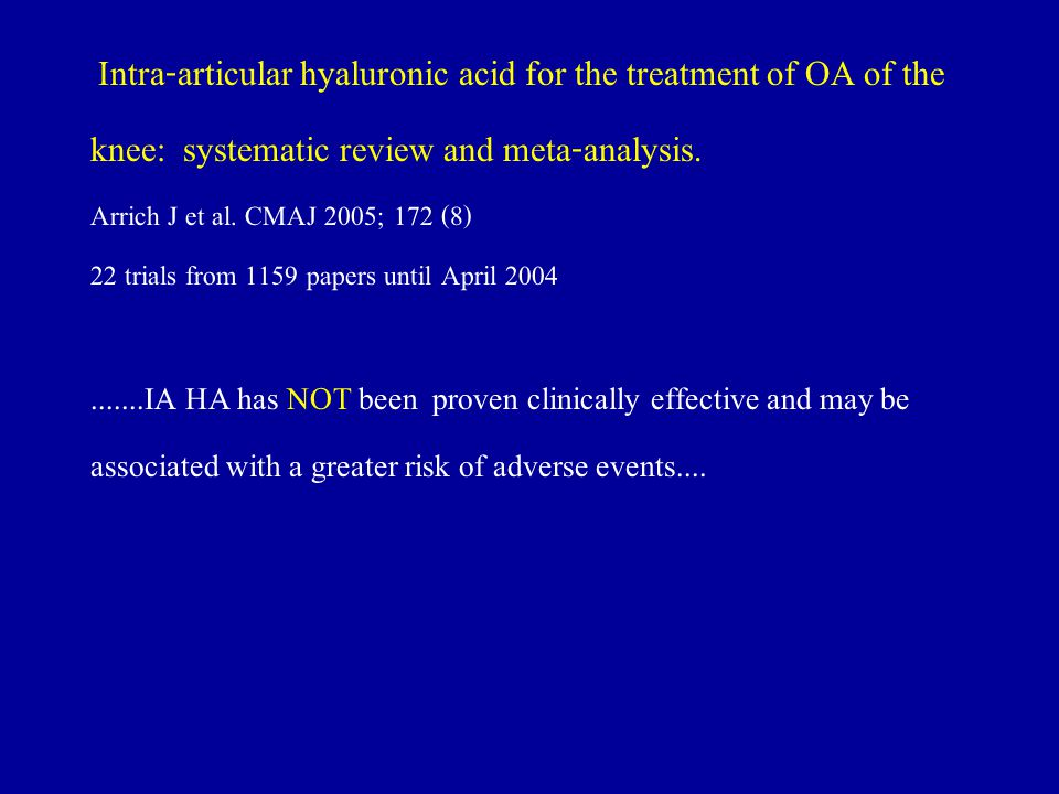 knee: systematic review and meta-analysis.