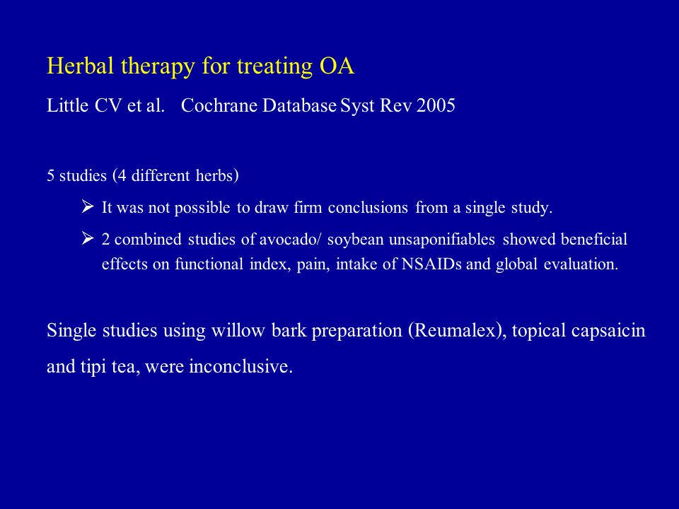 Herbal therapy for treating OA