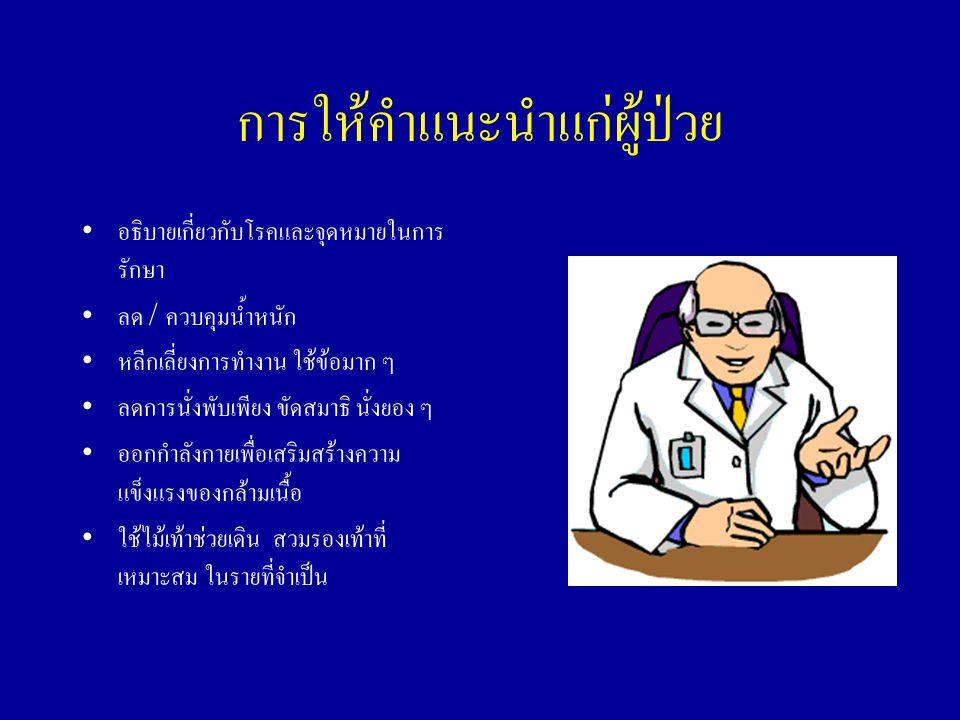 การให้คำแนะนำแก่ผู้ป่วย