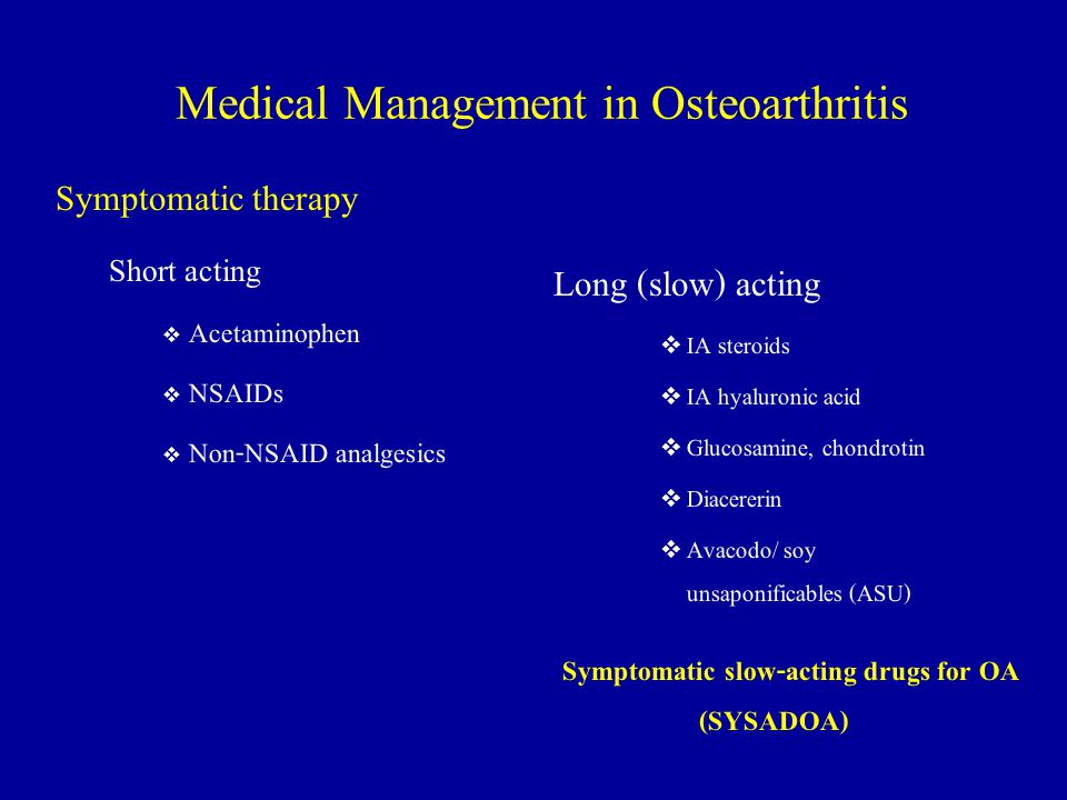 Medical Management in Osteoarthritis
