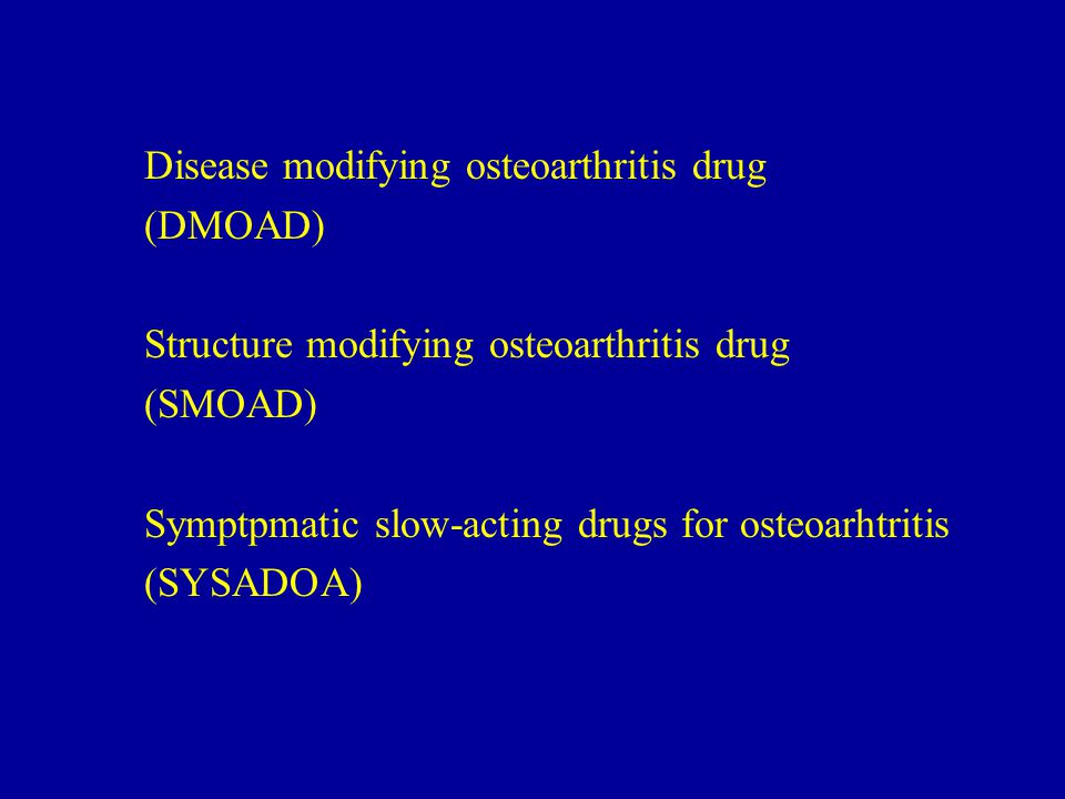 Disease modifying osteoarthritis drug