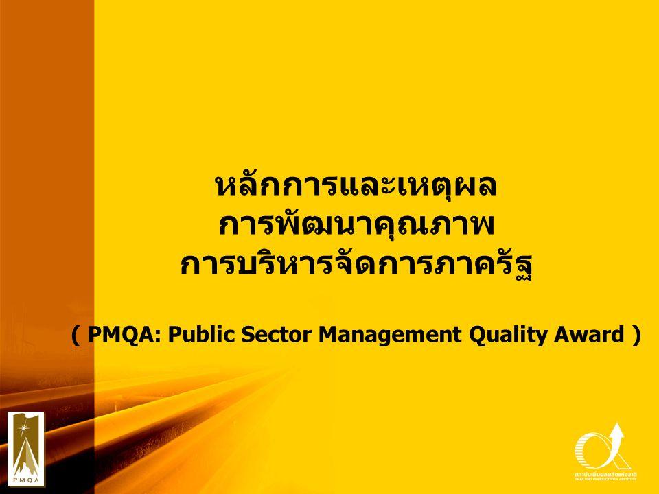 การบริหารจัดการภาครัฐ ( PMQA: Public Sector Management Quality Award )