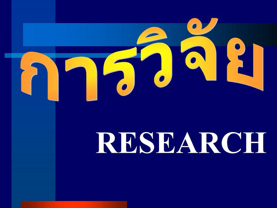 การวิจัย RESEARCH