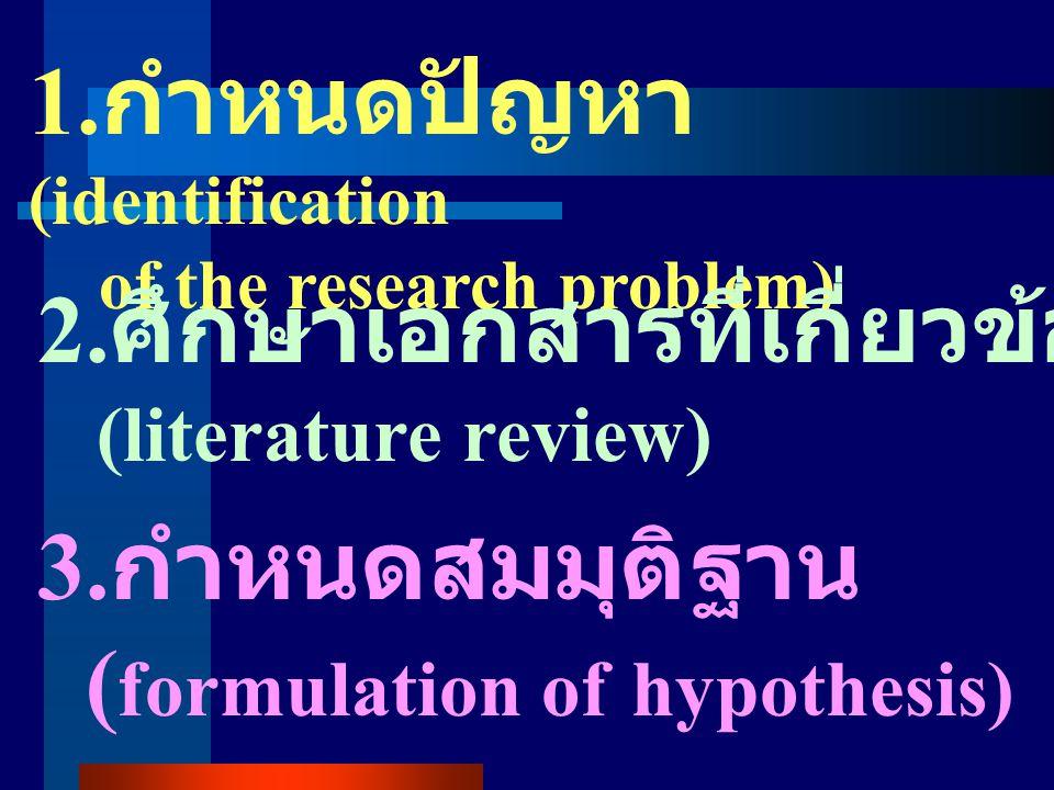 1.กำหนดปัญหา(identification