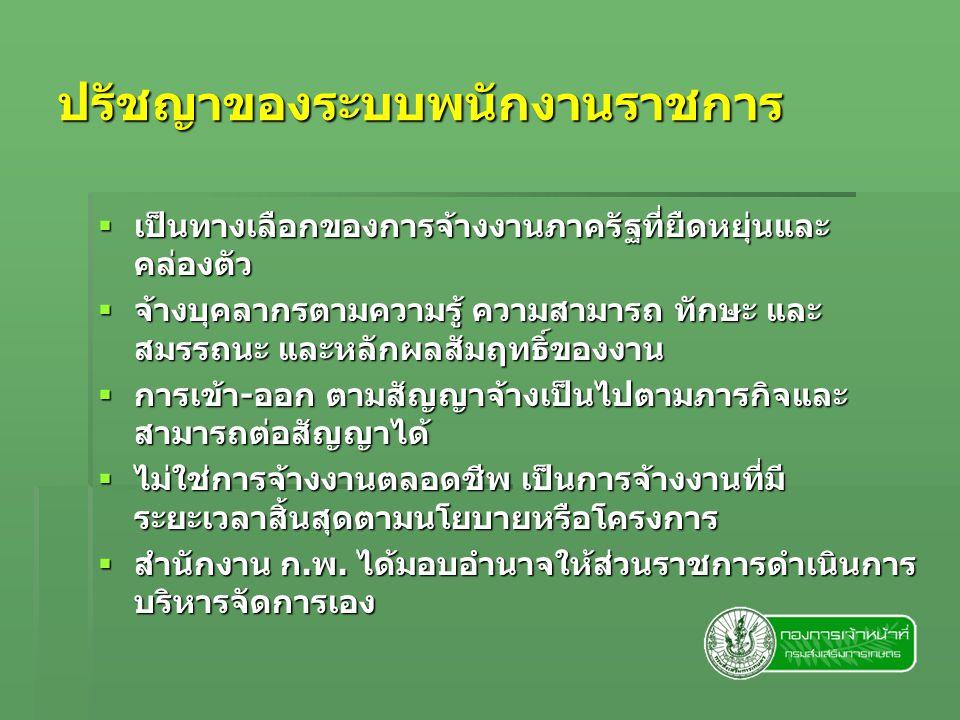 ปรัชญาของระบบพนักงานราชการ