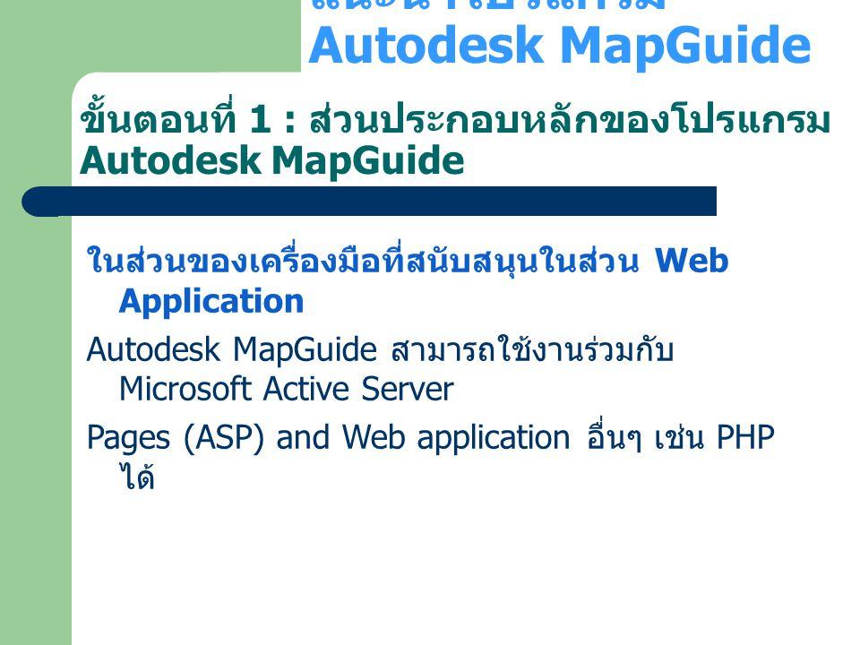 แนะนำโปรแกรม Autodesk MapGuide