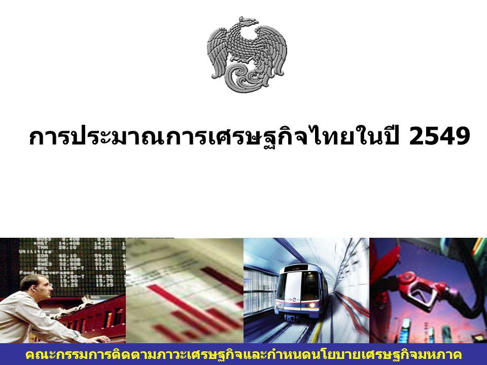 การประมาณการเศรษฐกิจไทยในปี 2549