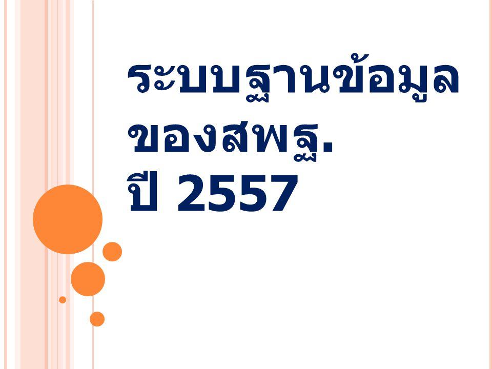 ระบบฐานข้อมูลของสพฐ. ปี 2557
