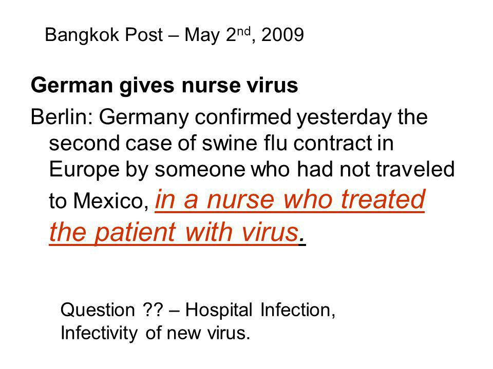German gives nurse virus