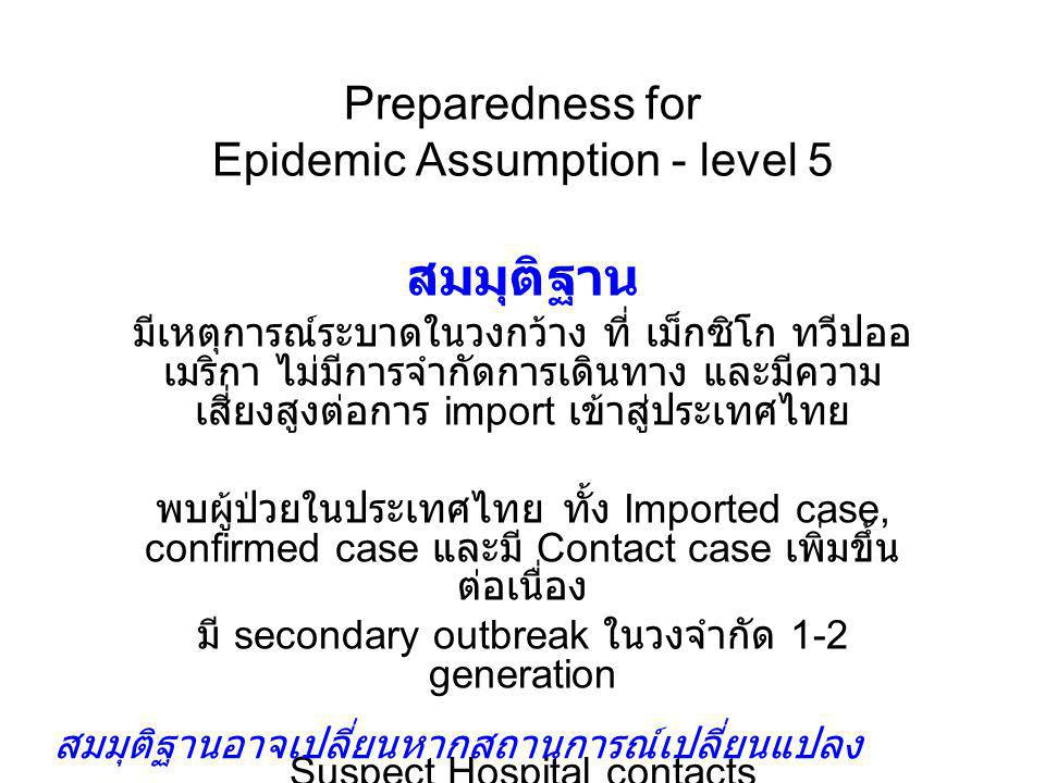 Preparedness for Epidemic Assumption - level 5