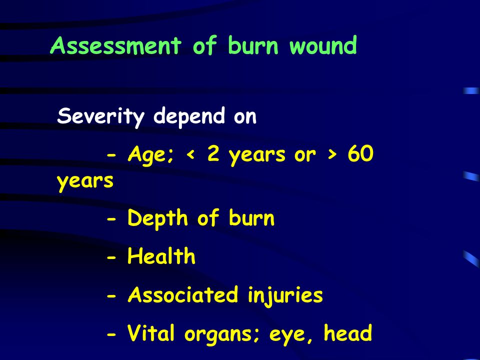 Assessment of burn wound
