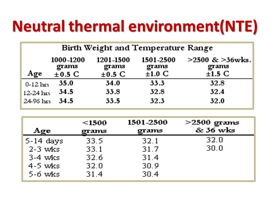 Neutral thermal environment(NTE)