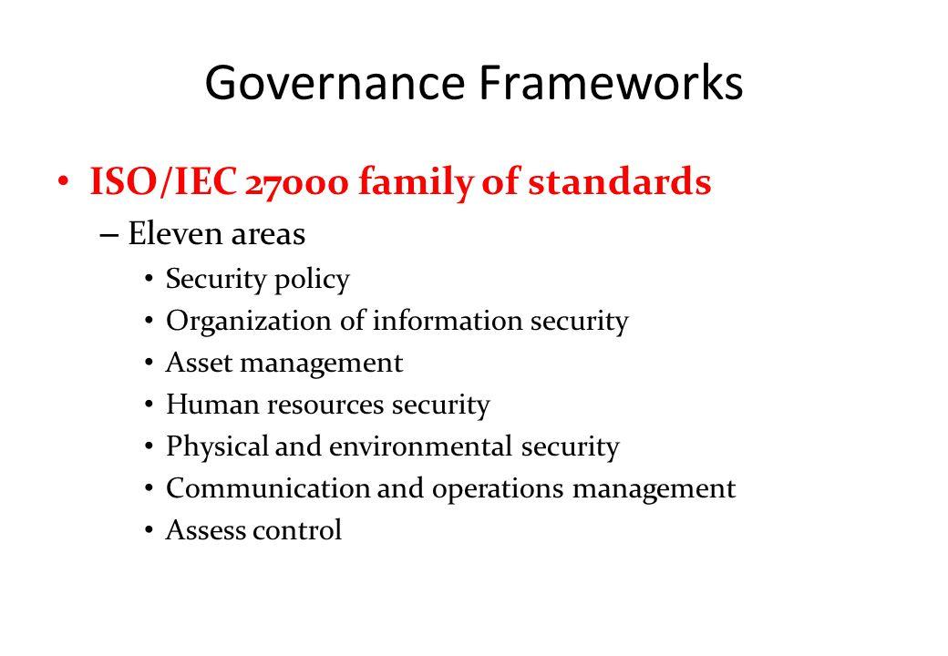 Governance Frameworks