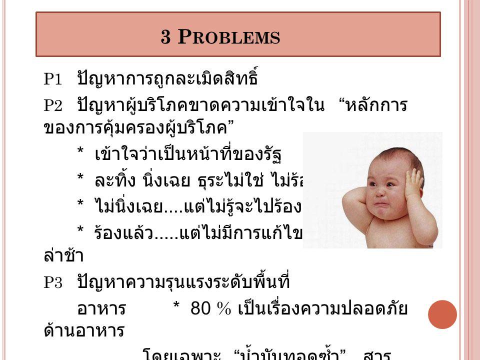 3 Problems * เข้าใจว่าเป็นหน้าที่ของรัฐ