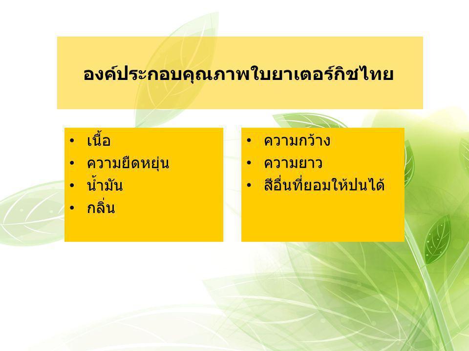 องค์ประกอบคุณภาพใบยาเตอร์กิชไทย