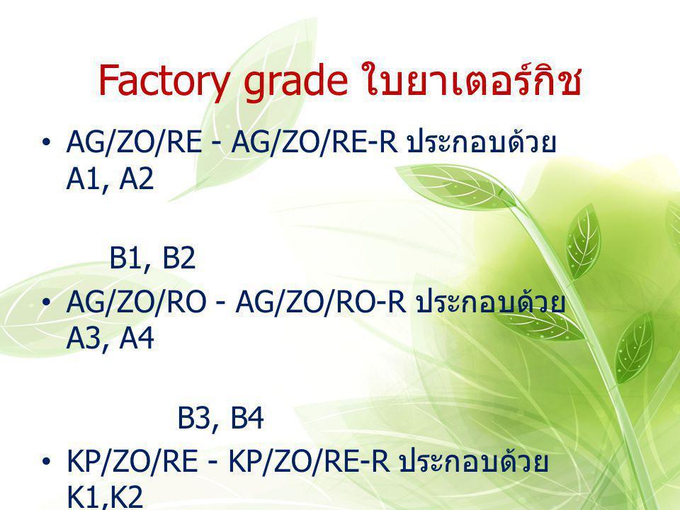 Factory grade ใบยาเตอร์กิช