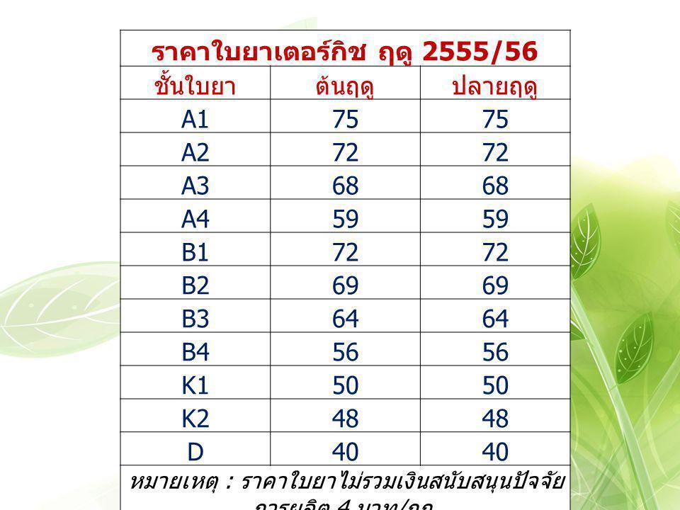 ราคาใบยาเตอร์กิช ฤดู 2555/56