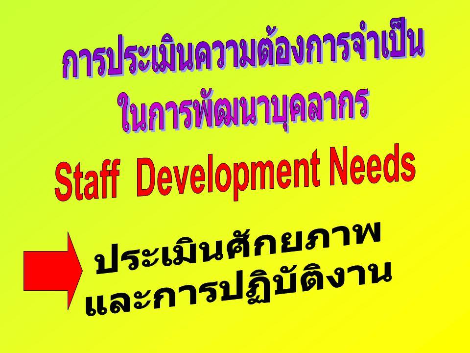 การประเมินความต้องการจำเป็น Staff Development Needs