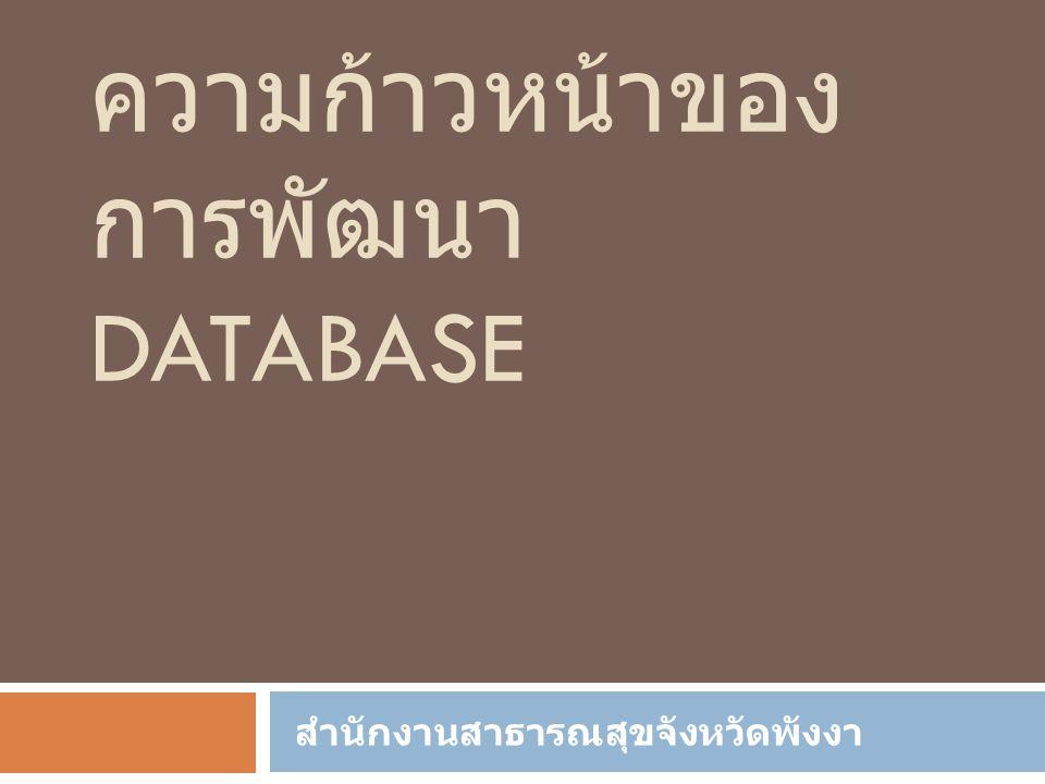 ความก้าวหน้าของการพัฒนา Database