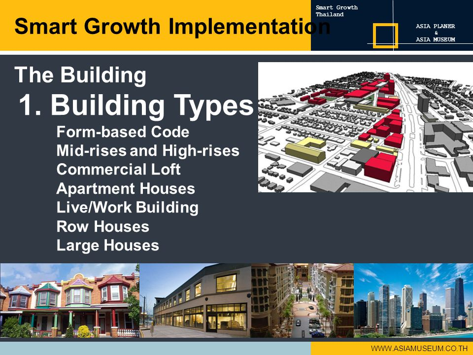 1. Building Types Smart Growth Implementation The Building