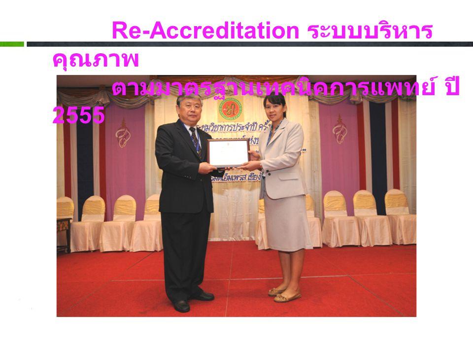 Re-Accreditation ระบบบริหารคุณภาพ