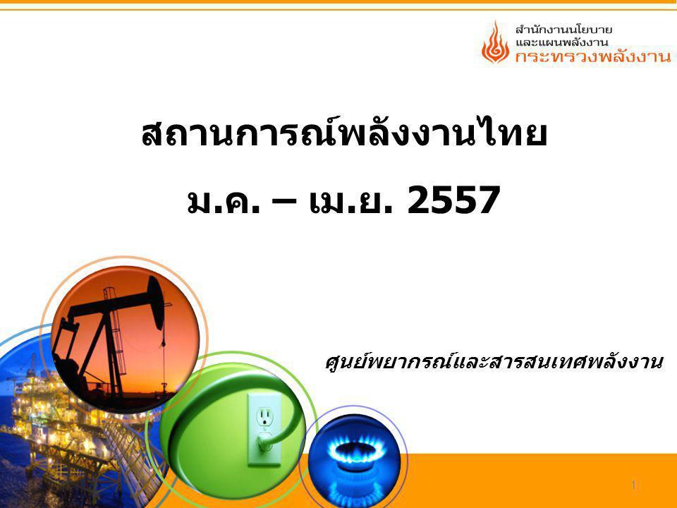 สถานการณ์พลังงานไทย ม.ค. – เม.ย. 2557