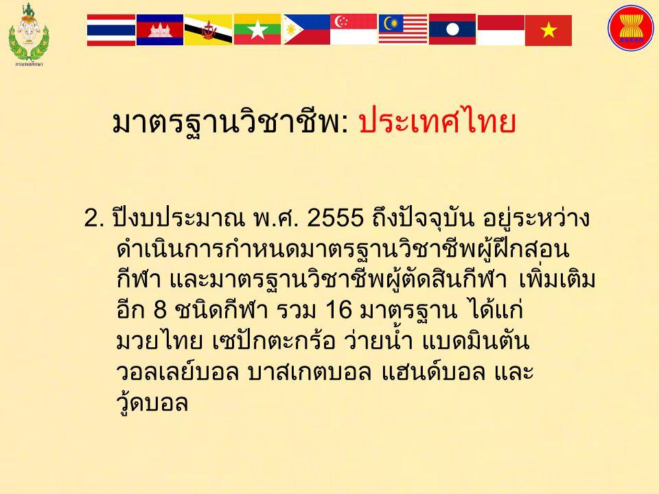มาตรฐานวิชาชีพ: ประเทศไทย