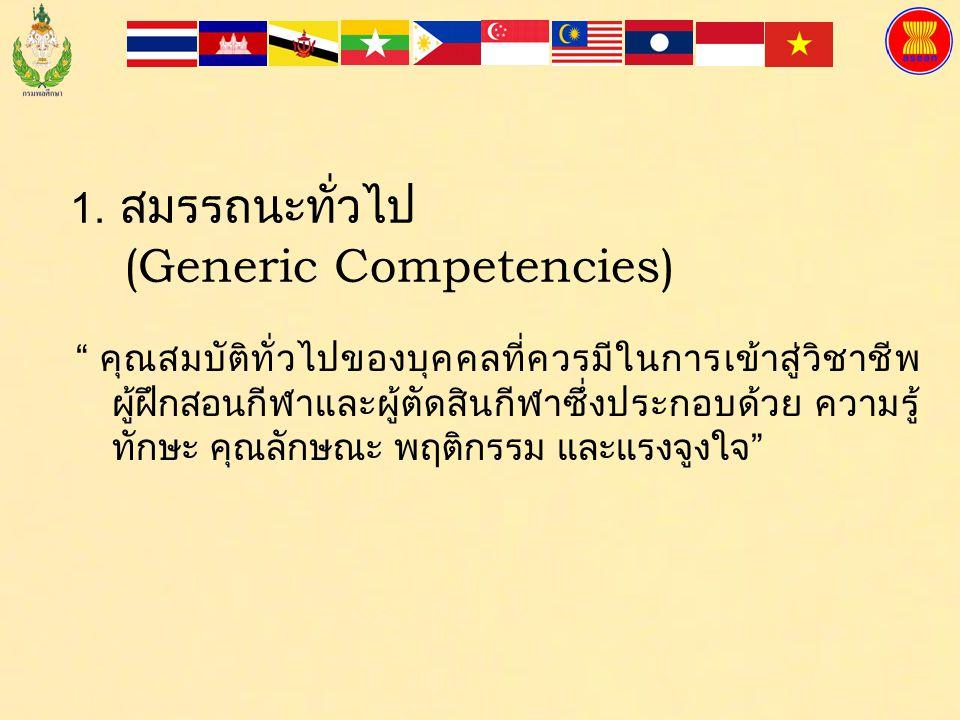 1. สมรรถนะทั่วไป (Generic Competencies)