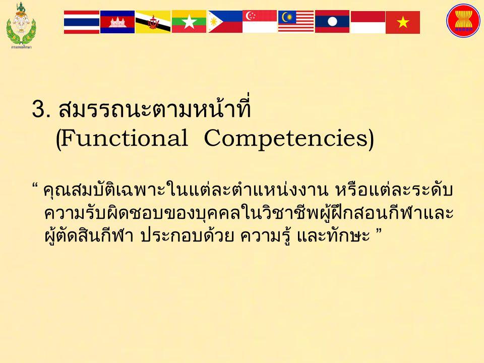 3. สมรรถนะตามหน้าที่ (Functional Competencies)