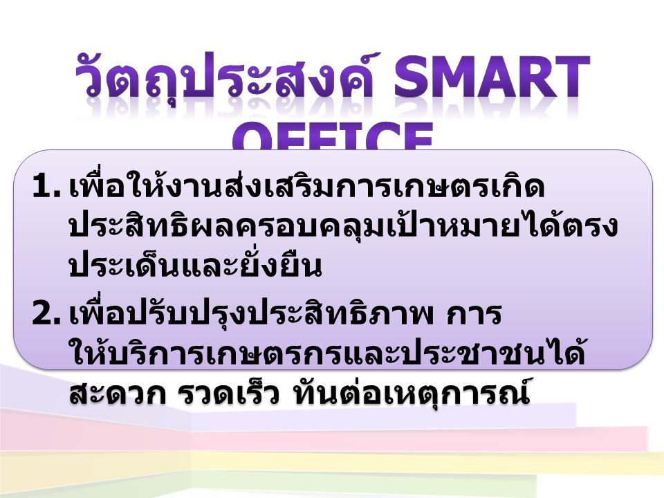 วัตถุประสงค์ Smart Office