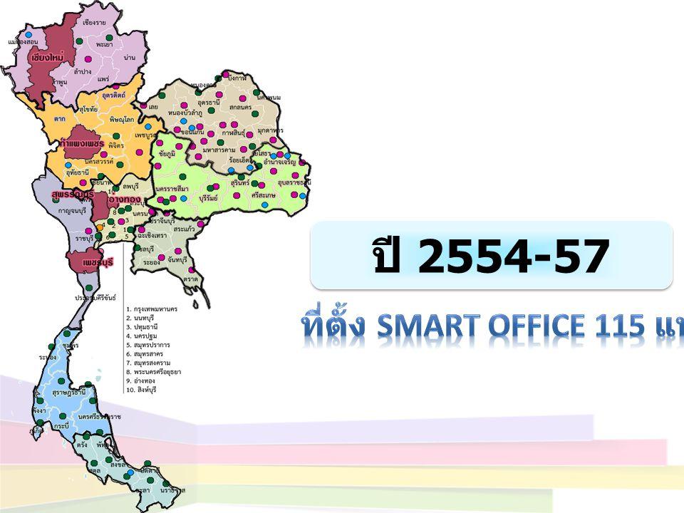 ปี 2554-57 ที่ตั้ง smart Office 115 แห่ง
