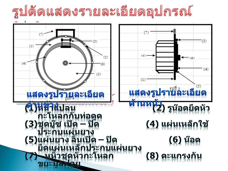 รูปตัดแสดงรายละเอียดอุปกรณ์ (ต่อ)