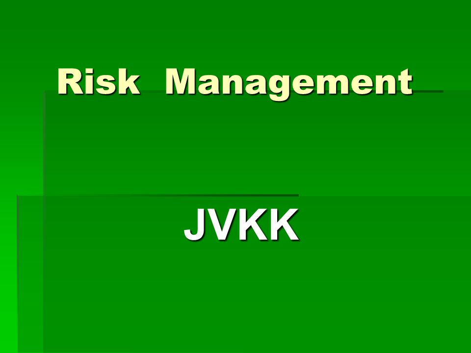Risk Management JVKK
