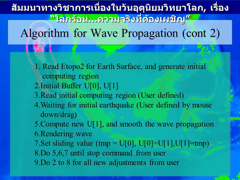 Algorithm for Wave Propagation (cont 2)