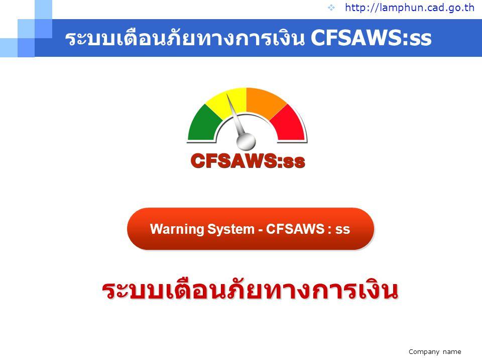 ระบบเตือนภัยทางการเงิน CFSAWS:ss