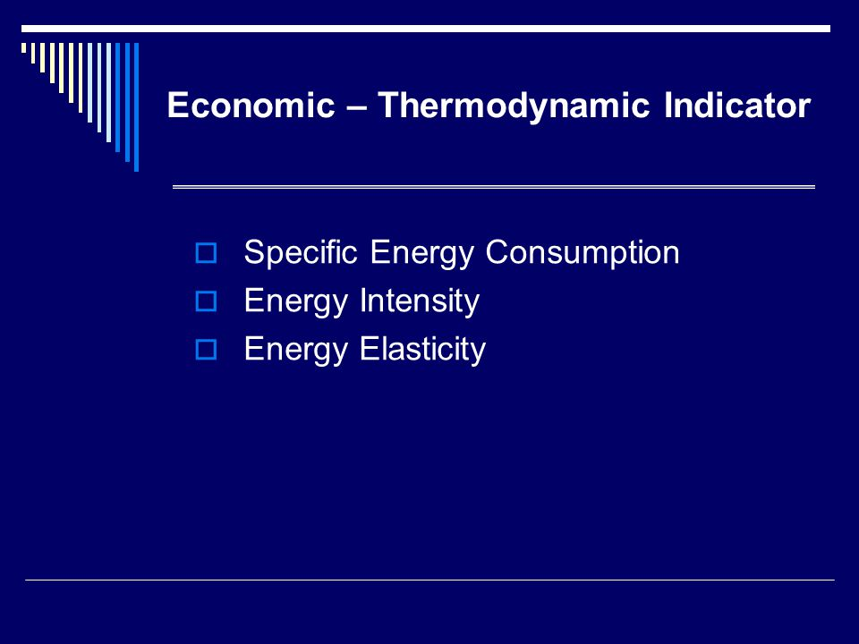 Economic – Thermodynamic Indicator