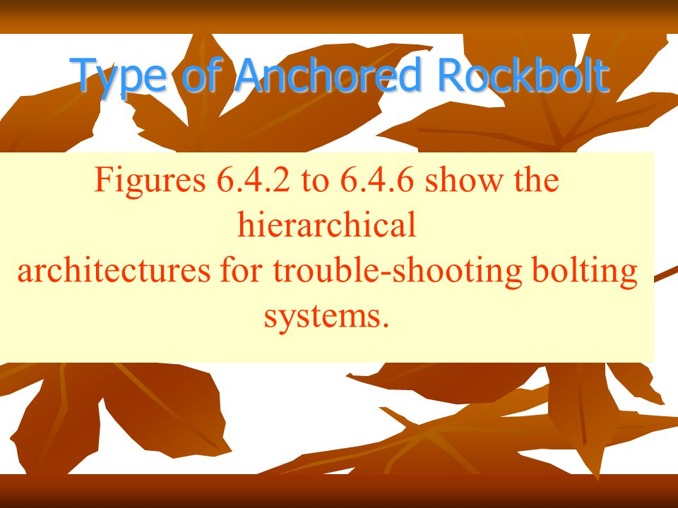 Type of Anchored Rockbolt